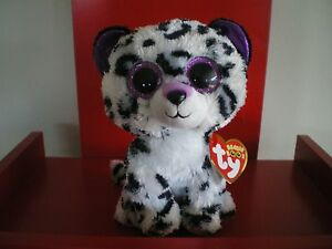 Ty Beanie Boos VIOLET leopard 6 inch NWMT.Claire's Exclusive. New Release.