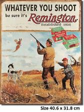 Remington Whatever You Shoot Tin Metal Sign 1412  Comb Postage 2-13 signs $15