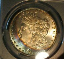 1888 O Morgan silver dollar - PCGS MS 65, RARE Crescent Rainbow Toning Obv, 3148