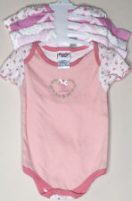 Baby Girl Bodysuits Assorted SS Bodysuits Pink Floral Dots Solids 6-9 Mos (Pk 5)