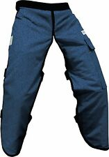 """Forester Chainsaw Safety Chaps with Pocket, Apron Style (Long 40"""", Denim)"""