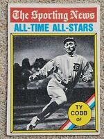 "TY COBB 1976 TOPPS ""ALL-TIME ALL-STARS"" BASEBALL CARD #346 DETROIT TIGERS HOF"