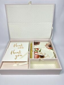 Kate Spade New York Happily Ever After Keepsake Thank You Card Box Set NIB