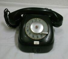 60er Jahre Telefon Tesla Bakelit schwarz Wählscheibe DDR Deko Requisit 60s
