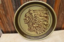 Vintage Iroquois Indian Head Beer & Ale Brewing Metal Tray Buffalo New York
