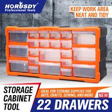 22-132 Drawers Storage Cabinet Tool Box Bin Chest Case Plastic Organiser Toolbox
