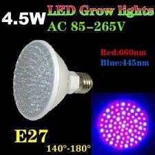 4.5 W 80 DEL Grow Plantes Lampe Plant Light a grandi Floraison 140 ° Full Spectrum e27