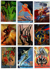 MARVEL MASTERPIECES 1993 Near Complete BASE Card Set 87/90 SKYBOX