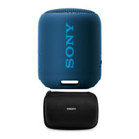 Sony SRS-XB12 Extra Bass Portable Bluetooth Speaker, Blue (SRS-XB12/L) Bundle