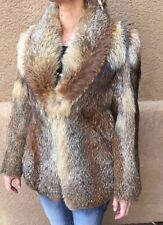 Custom Genuine Fox Fur Coat size XS Small