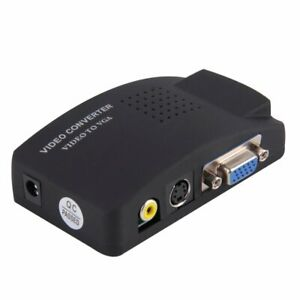 Convertitore Adattatore Video Da AV, Rca, S-Video A VGA Per Monitor E Proiettori