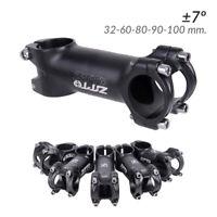 Potencia de Aluminio ± 7º 32-60-80-90-100 mm. Bicicleta MTB BTT Carretera Bici