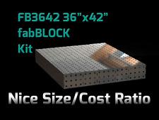 CertiFlat FB3642 3'X3.5' FabBlock DIY Modular Welding Table Top Kit - Heavy Duty