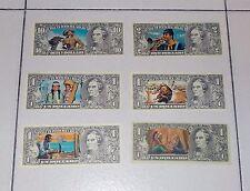 6 diverse figurine EDIS TORINO serie Far West Dollari Banconote Punti Raccolta