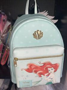 Disney Loungefly The Little Mermaid Ariel And Shells Mini Backpack Bag