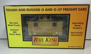 MTH 30-7729 Rail King Union Pacific Bobber Caboose O GAUGE O-27 NEW Condition