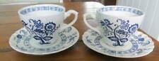 More details for meakin blue nordic tea cups & saucers pair   £10.99( post free uk)