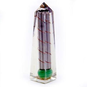 Orgonite Obelisk Power Point Copper Lapis Gre Aventurine Reiki Healing UK