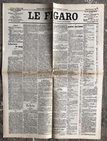 N122 La Une Du Journal Le Figaro 20 Janvier 1903