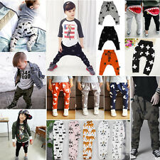 Newborn Kids Baby Boys Girls Bottoms Harem PP Leggings Pants Trousers Sweatpants