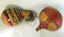2 Anciennes calebasses peintes d' Afrique…assez grandes
