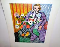 "Henri Matisse Vintage Print ""The Purple Robe"" Shorewood Publishers Print"