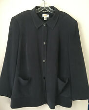 Talbots Plus 20W Petite Blue Washed Silk Button Front Jacket W Matched 22W Pants