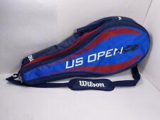 Wilson Us Open Bag Tennis Racket Sport Active Shoulder Strap Bag Red/Blue!