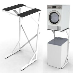 Dryer Stand: Portable Top or Front Loading Washer Machine and Dryer Holder Shelf