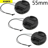 3x Khaos 55mm Front Lens Cap Cover For Nikon, Canon, Sony & Other DSLR Cameras