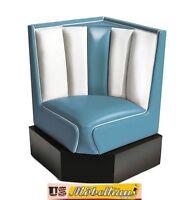 hw-60/60-blue American Banco de comedor rinconero RESTAURANTE Muebles 50´s