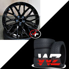 20 inch Audi R8 V10 Black Wheels w/ Tires Fits Audi A4 A6 A7 A8 S4 VW CC Rims