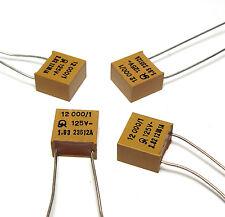 4x Jahre Glimmer-Kondensator 12 nF / 1 % / 125 Volt, High-End Koppelkondensator