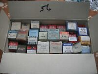 BOX OF BOXED NEW VALVES TUBES VINTAGE RADIO ETC CHEAP TO CLEAR BX56