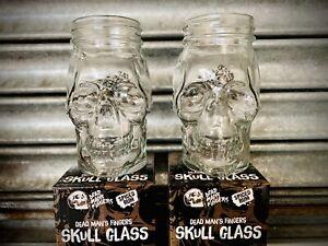 2 SKULL💀GLASS Cocktail Rum DEAD MANS FINGERS SPICED RUM