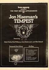 Jon Hiseman's Tempest 1973 UK tour/advert MM-EUIO