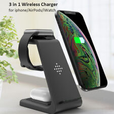 Leather Wireless Mobile Phone Chargers & Holders for Apple