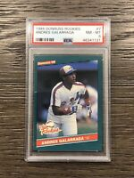 1986 Donruss The Rookies Andres Galarraga PSA 8 Rookie #7 RC