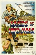 Sands of Iwo Jima John Wayne cult movie poster print