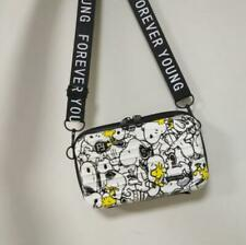Cute Snoopy & Woodstock Crossbody Bag Suitcase Style Clutch Travel Casual Bags
