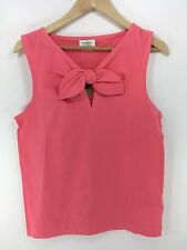 Kate Spade NWT Pomona Tank Sz Large in Flamingo Pink with Bow & Keyhole MSRP $78