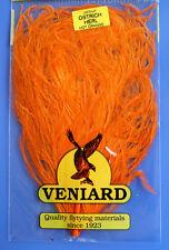 Straußenfeder Ostrich Teilstück aus Prachtfeder Fiberlänge 10 - 15 cm HOT ORANGE