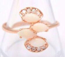Anelli di lusso con gemme bianco, misura anello 17