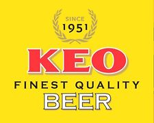 """10 x 8"""" KEO BEER CYPRUS PUB BAR MAN CAVE METAL PLAQUE SIGN OTHERS ARE LISTED 545"""