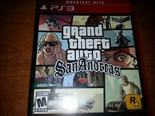 Mint Disc! PS3 GTA Grand Theft Auto San Andreas Game Greatest Hits no manual