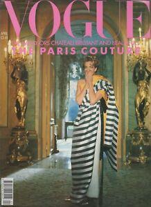 1990 April Dior VOGUE Paris Couture Villa Windsor Norman Parkinson 90s vintage