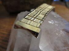VINTAGE PREMIUM KESTENMADE 10KT GOLD FILLED  SCISSOR EXPANSION WATCH BAND 19MM