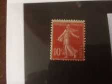 TIMBRE FRANCE TYPE SEMEUSE  N°135a(IIA) OBLIT 10C ROUGE  VALEUR 50€  N°2