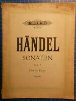 Edition Peters No.2018b Händel Sonaten Nr.4-7 Flöte und Klavier Schwedler H8336
