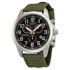 *BRAND NEW* Citizen Men's Eco-Drive Chronograph Black Dial Watch AT0200-05E